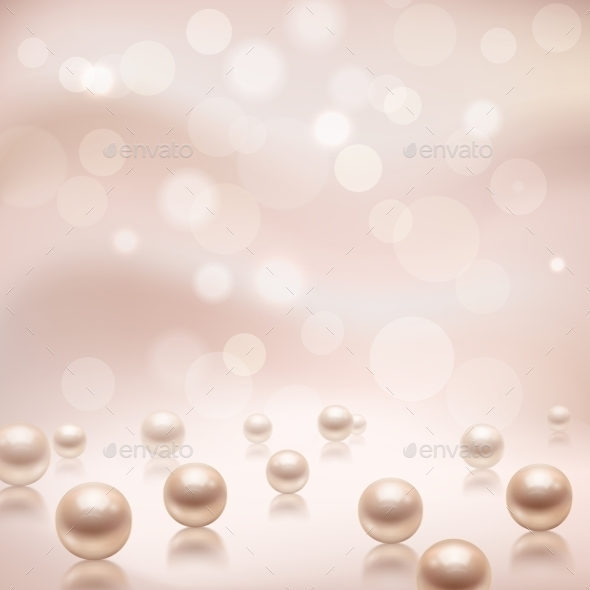 Luxury Pearls Background - Backgrounds Decorative