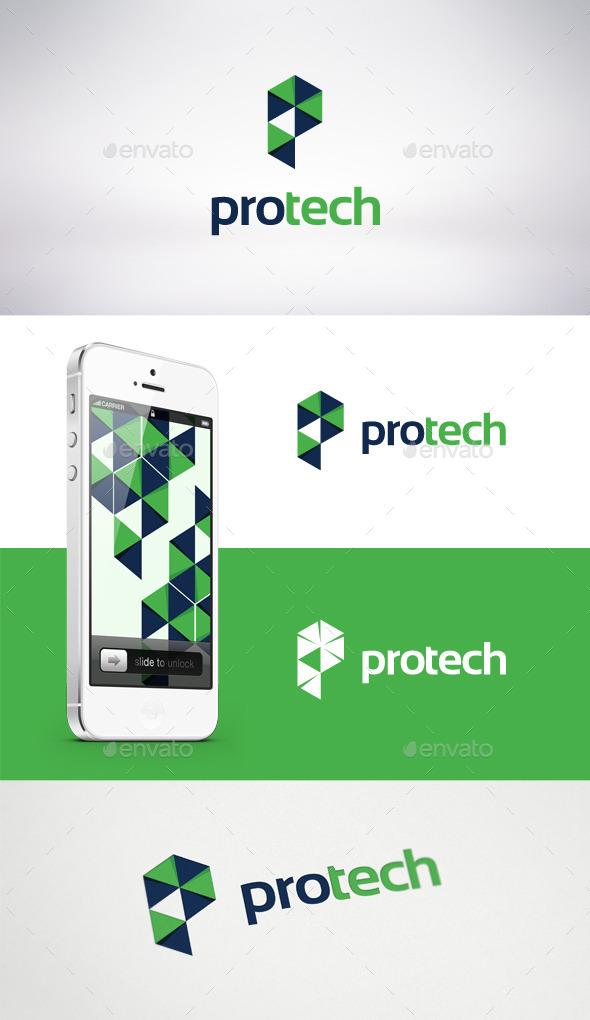 Pro Tech Logo Template  - Letters Logo Templates