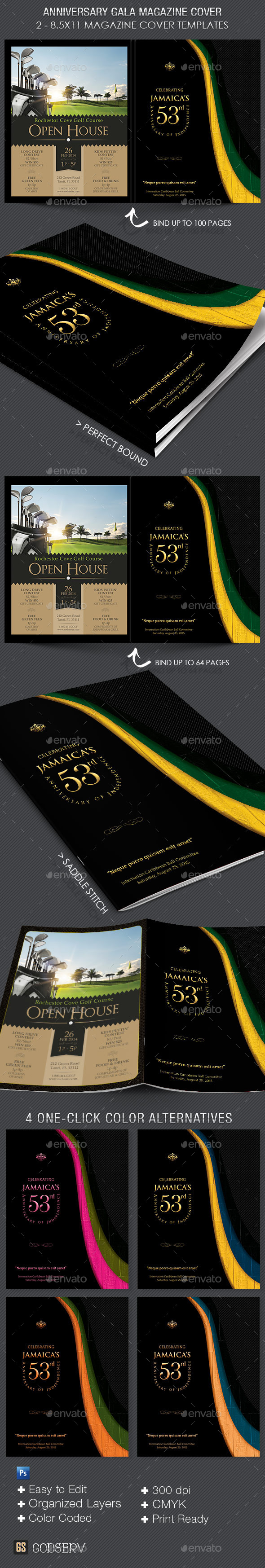 Anniversary Gala Magazine Cover Template - Magazines Print Templates