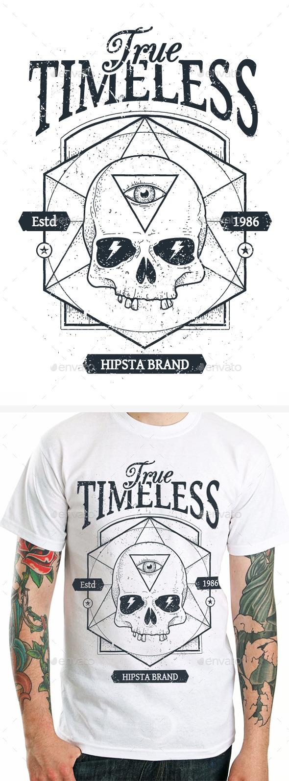 Dotwork Skull Print #1 - Tattoos Vectors