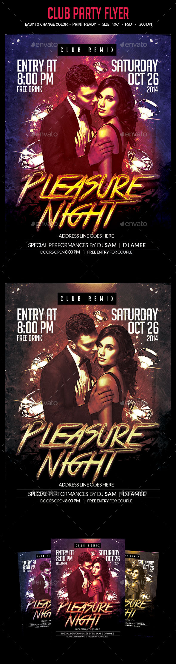 Pleasure Night Party Flyer - Clubs & Parties Events