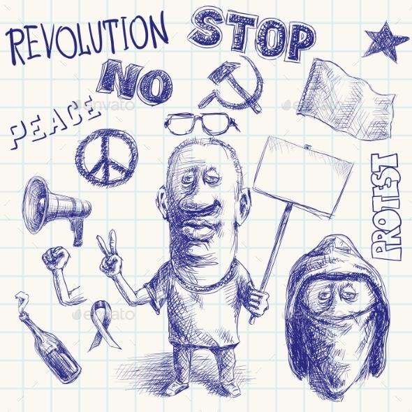 Protest Doodle - Miscellaneous Conceptual