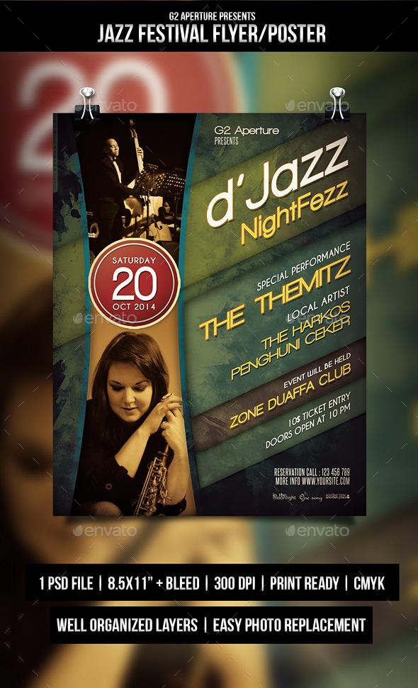 Jazz Festival Flyer - Events Flyers