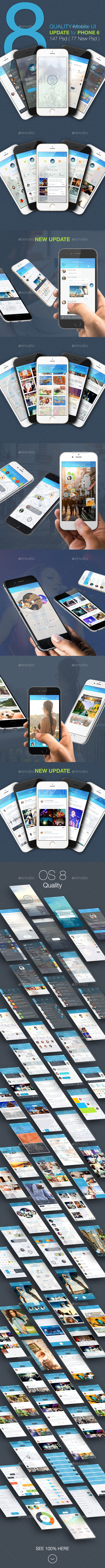 OS8 Quality - Mobile UI Kit - User Interfaces Web Elements
