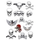 Vector Skull Characters with Crossbones