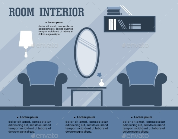 Room Interior Infographic Template - Miscellaneous Conceptual