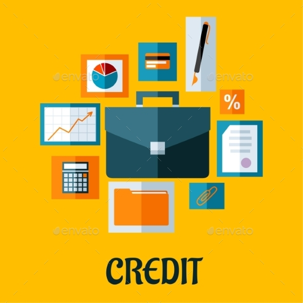 Credit Concept in Flat Style - Concepts Business
