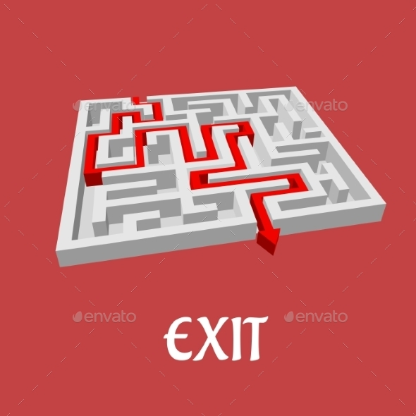 Vector Labyrinth or Maze Puzzle - Concepts Business