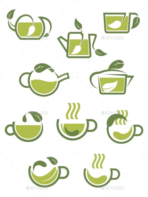 Herbal Tea Icons - Food Objects