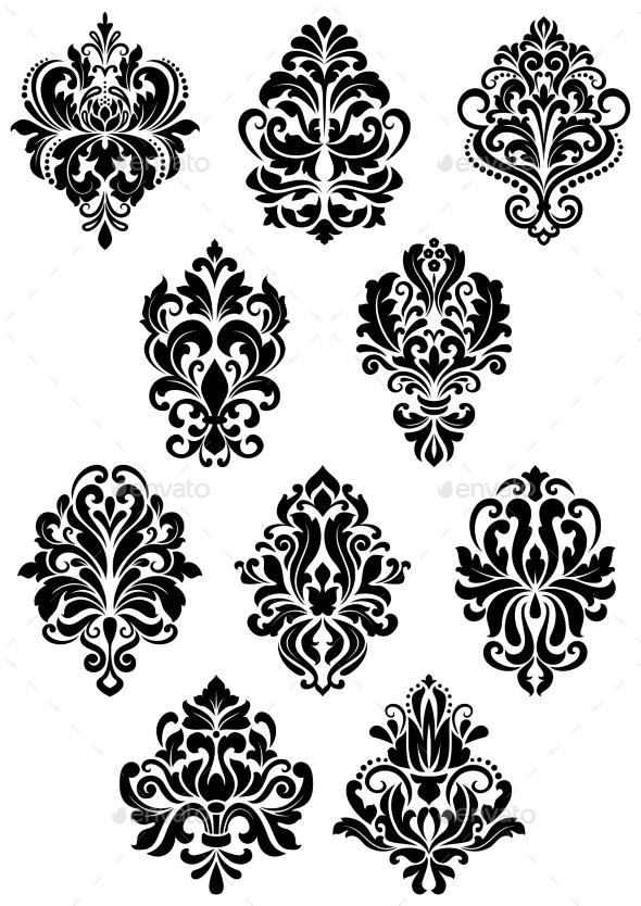 Arabesque Symbols - Flourishes / Swirls Decorative