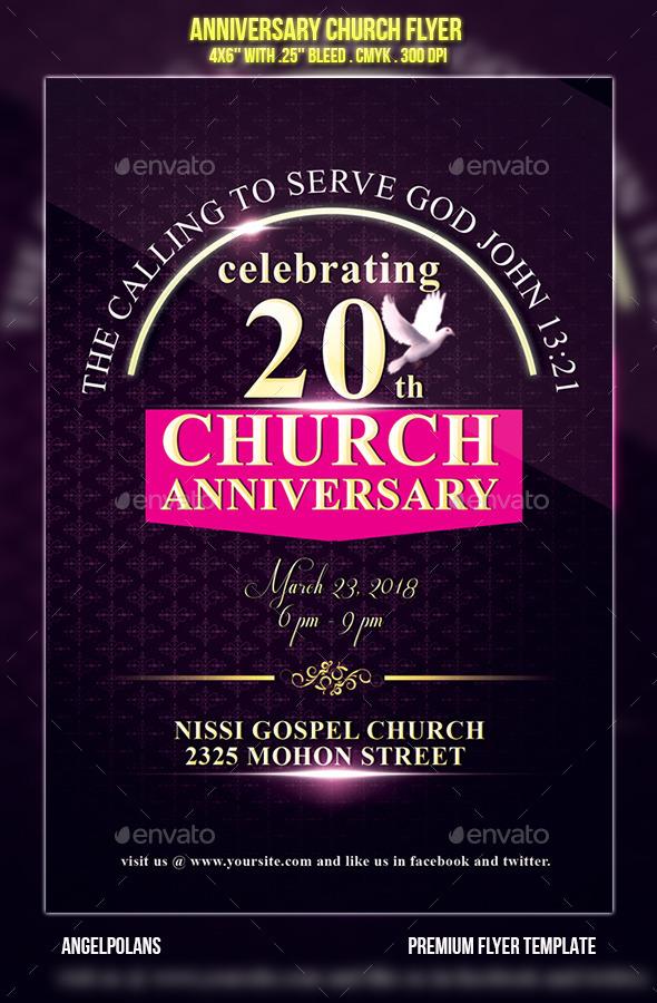 Anniversary Church Flyer - Flyers Print Templates