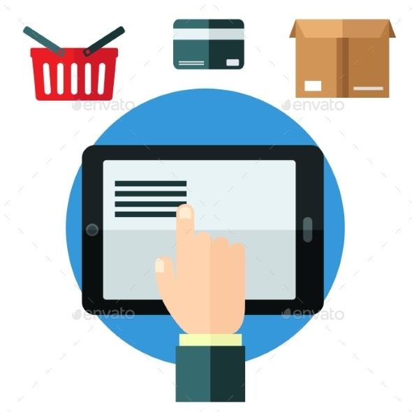 Online Shopping or E-Commerce Concept - Retail Commercial / Shopping