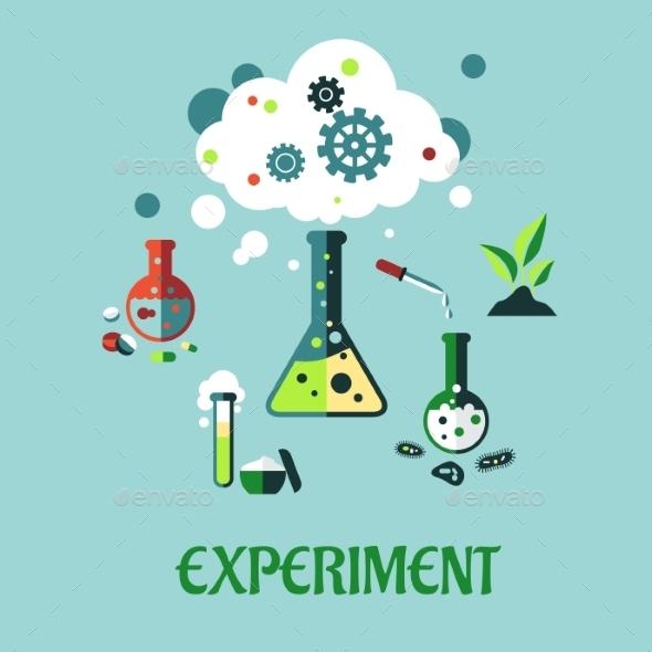 Experiment Flat Design - Health/Medicine Conceptual