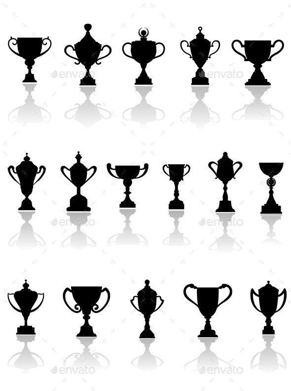 Trophy Silhouettes - Objects Vectors