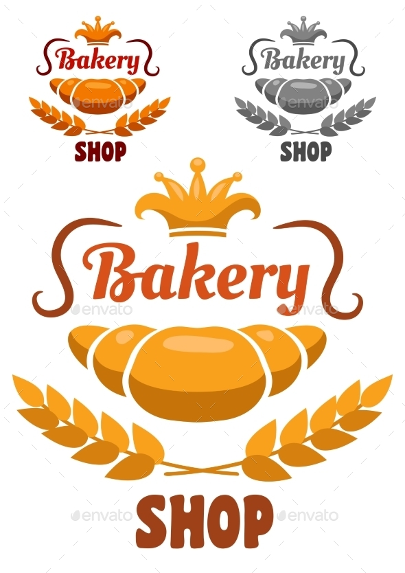 Bakery Shop Labels - Food Objects