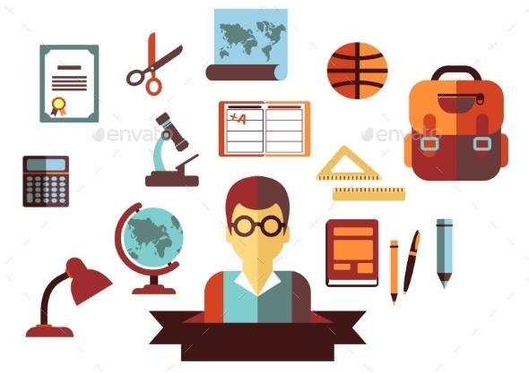 School and Education Icons - Conceptual Vectors