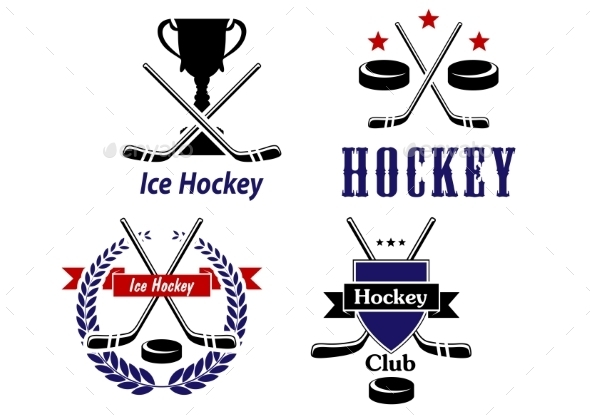 Hockey Emblems - Sports/Activity Conceptual