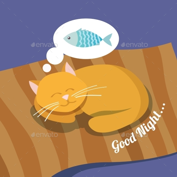 Sleeping Cat Background - Animals Characters