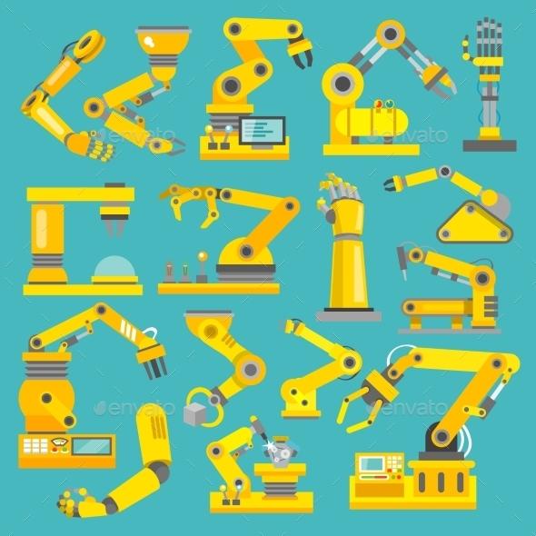 Robotic Arm Flat - Technology Conceptual