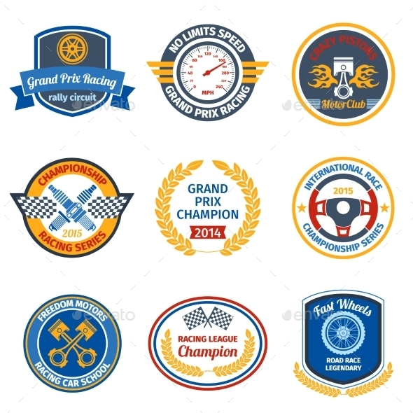 Racing Emblems - Miscellaneous Vectors