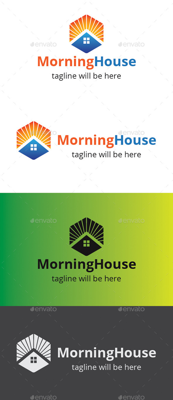 Morning House  - Buildings Logo Templates