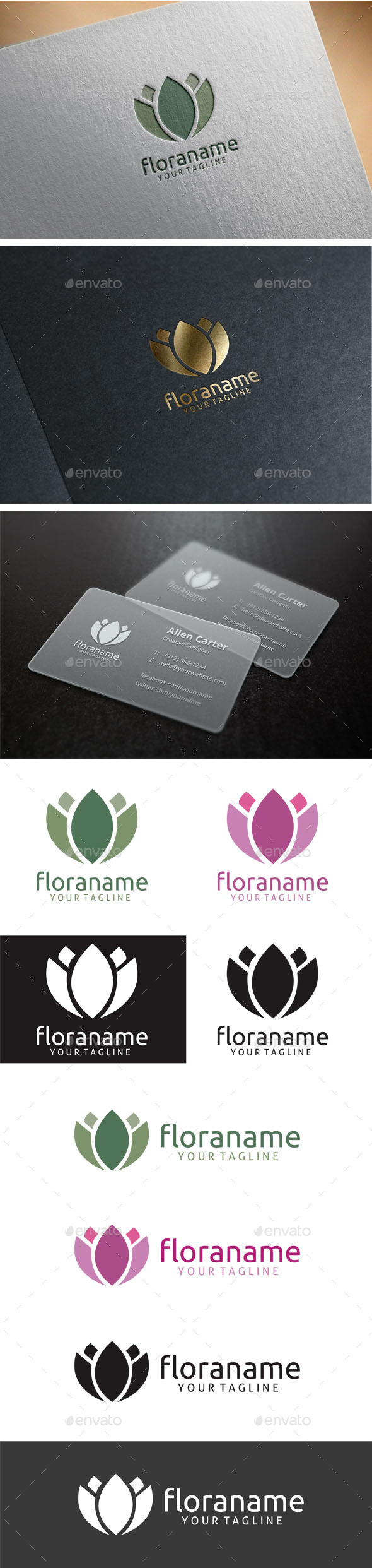 Flora Logo - Nature Logo Templates
