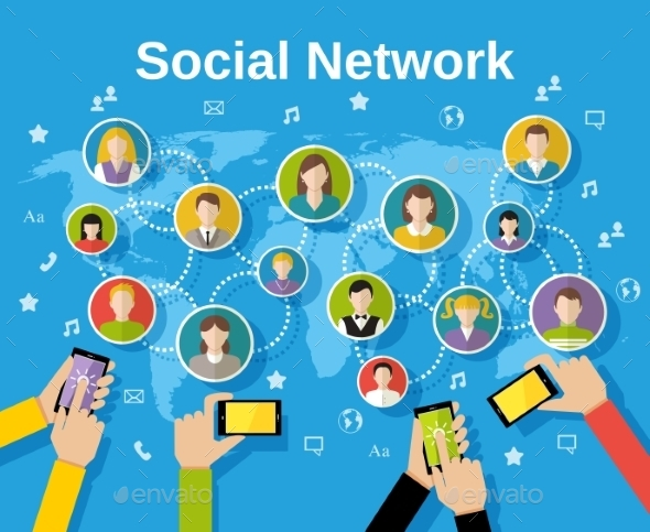 Social Network Concept - Media Technology