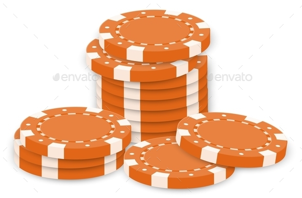 Orange Poker Chips - Miscellaneous Characters