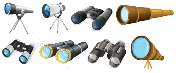 Different Telescope Designs - Miscellaneous Vectors