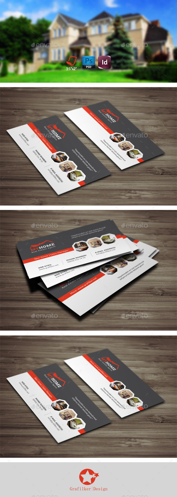 Real Estate Business Card Templates - Business Cards Print Templates