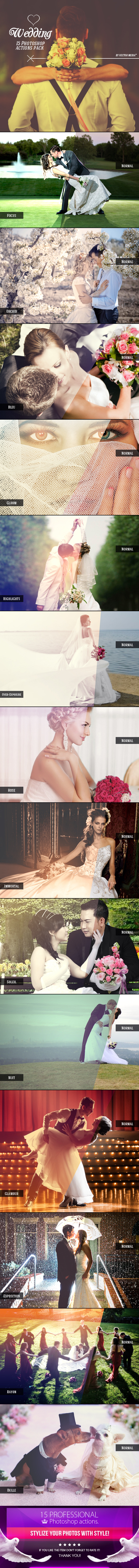 Wedding - Photoshop Actions - Photo Effects Actions
