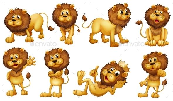 Lions - Animals Characters