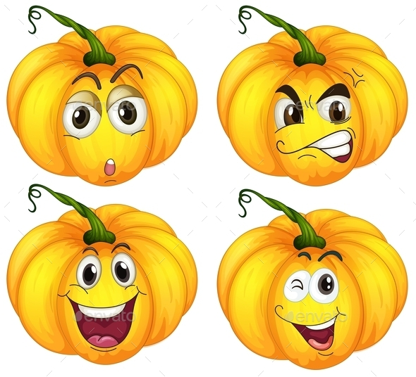 Four Pumpkins - Miscellaneous Vectors