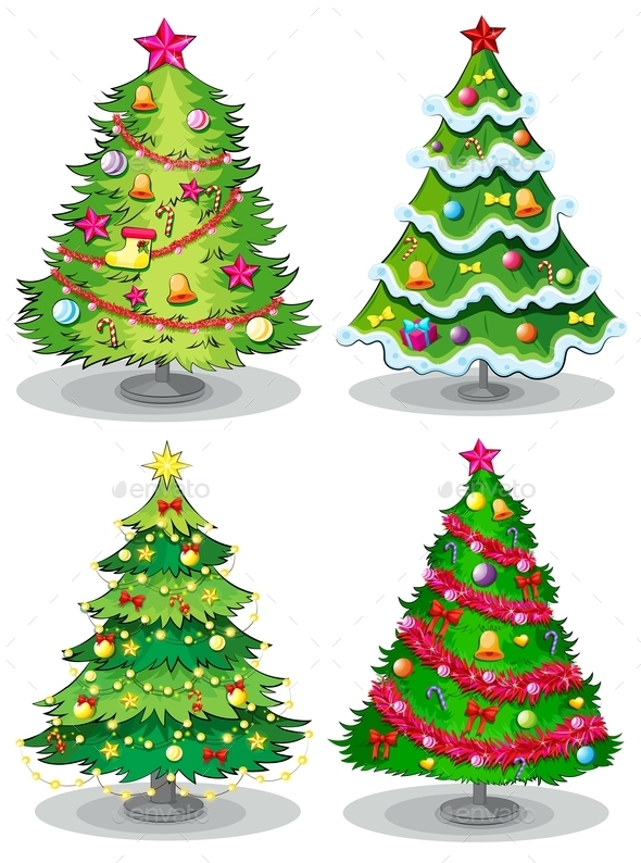 Christmas Trees - Flowers & Plants Nature