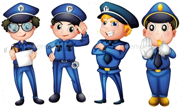 Four Policemen - People Characters