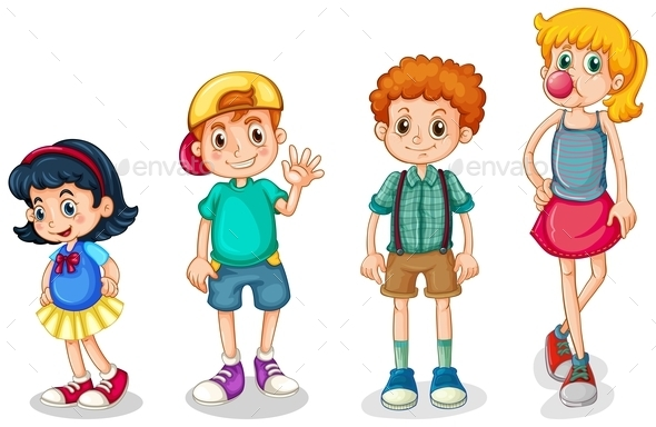 Four Kids - People Characters