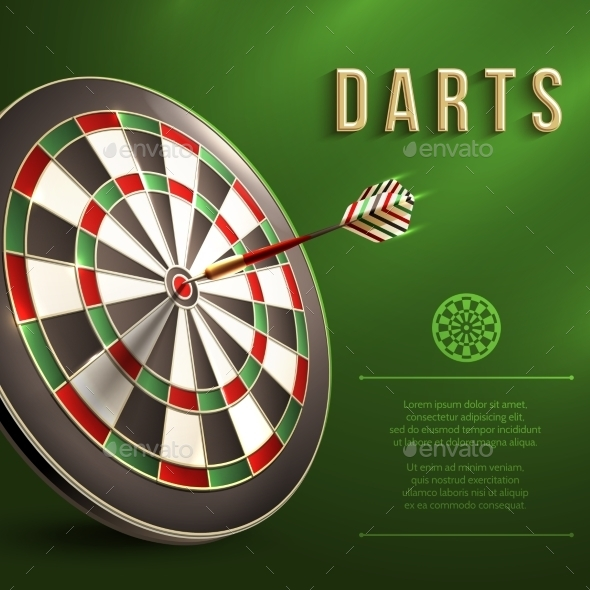 Darts Board Background - Sports/Activity Conceptual
