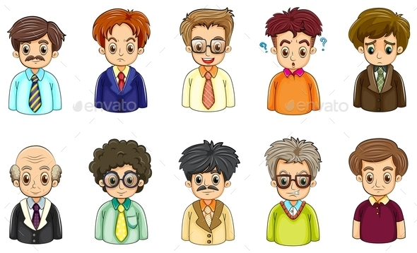 Different Faces of Businessmen - People Characters