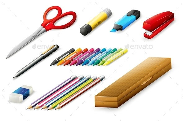 School Supplies - Man-made Objects Objects