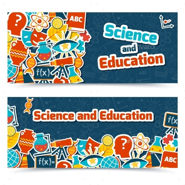 Education Science Banners - Backgrounds Business