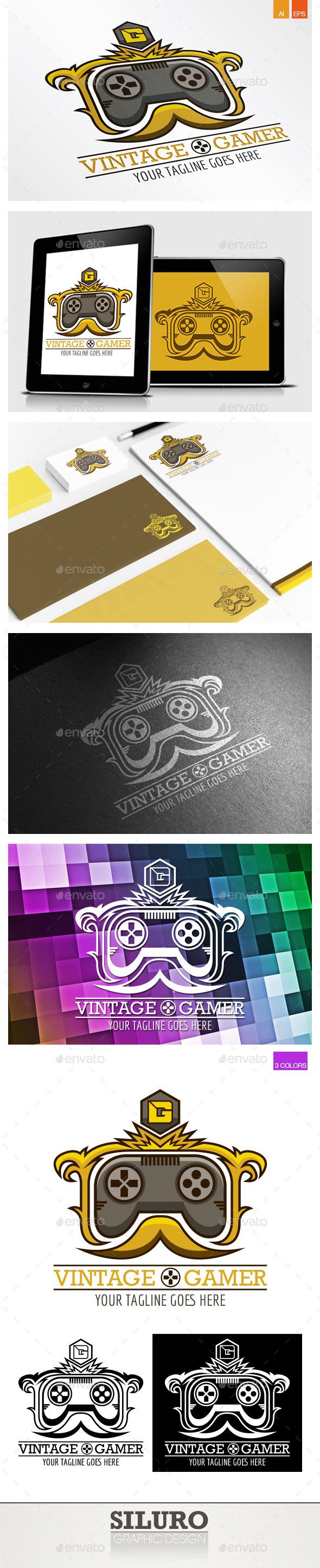 Vintage Gamer Logo - Crests Logo Templates