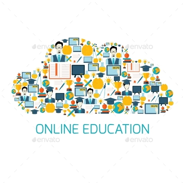 Education Icons Cloud - Conceptual Vectors