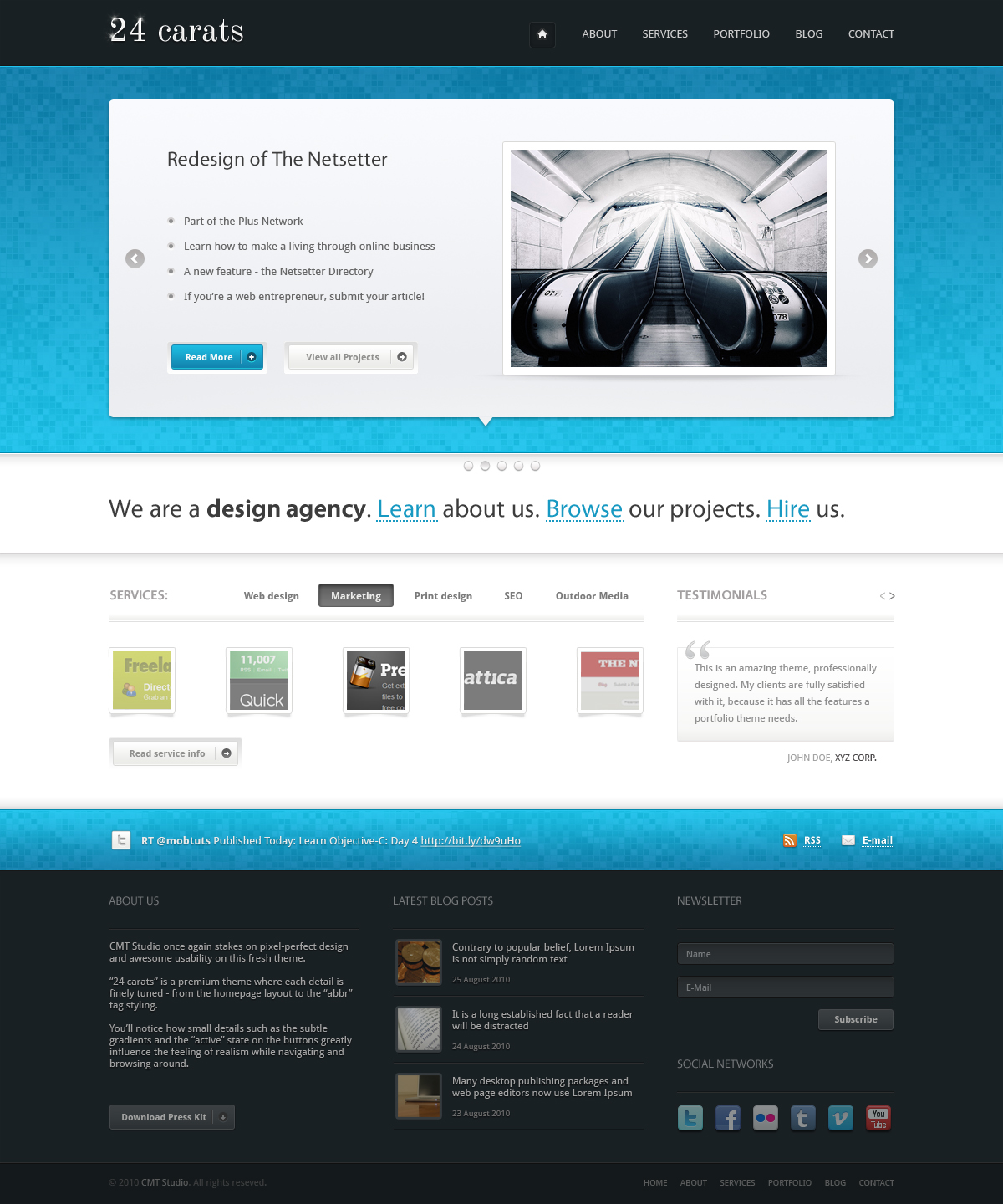 company portfolio template doc - 24 carats business portfolio by ordinarythemes themeforest