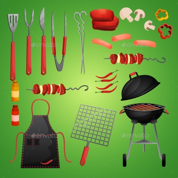 Picnic Bbq Set - Food Objects