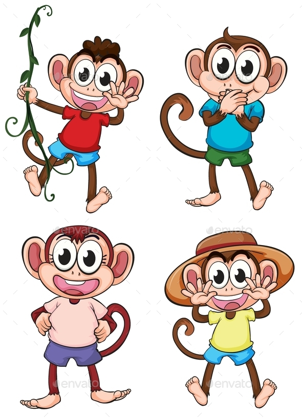 Monkeys - Animals Characters