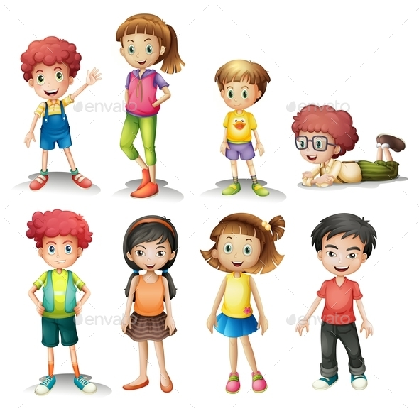 Group of Kids - People Characters