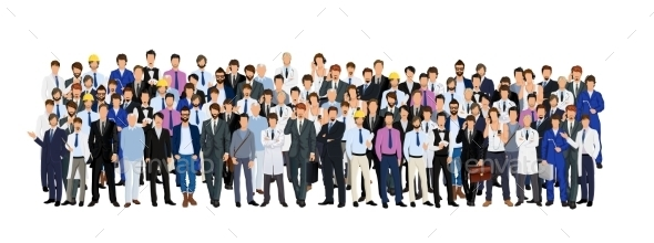 Group of Man - People Characters