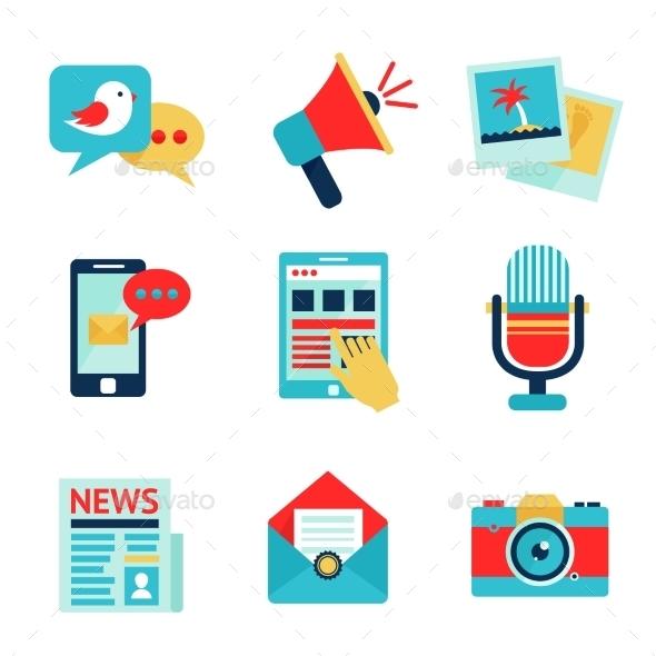 Media Icon Set - Web Technology