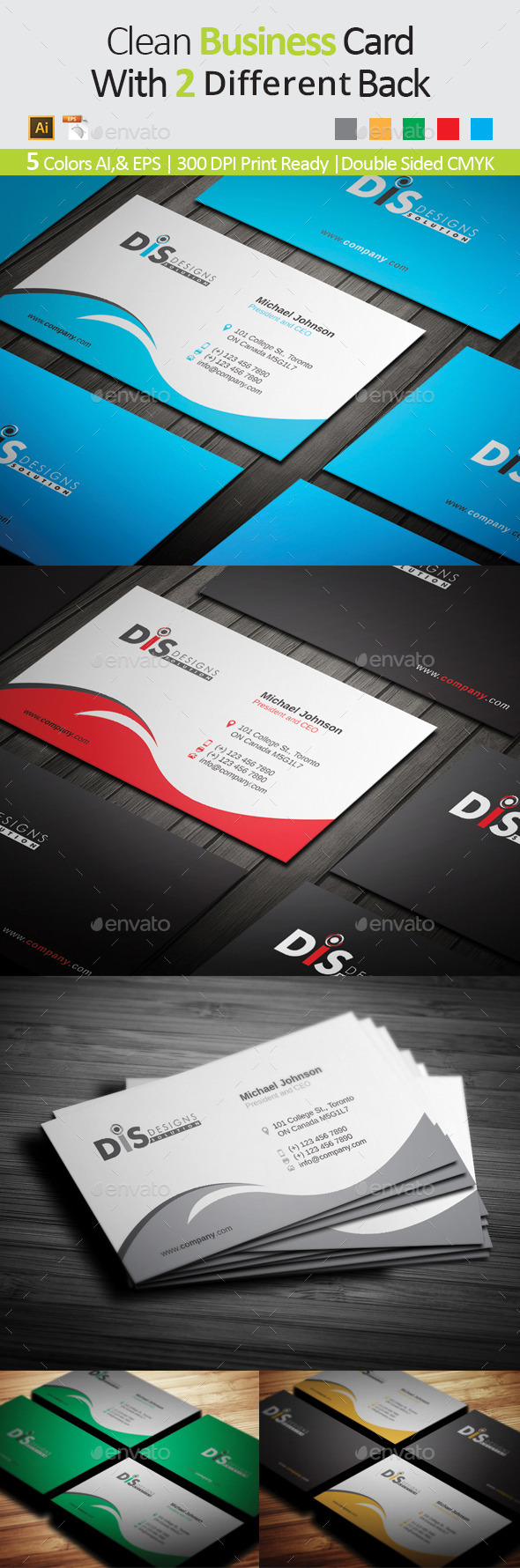 Business Card 01 - Business Cards Print Templates