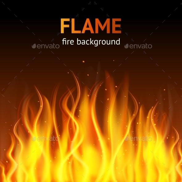Flame Dark Background - Miscellaneous Vectors